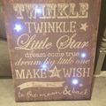 Selling: Mamas And Papas Light Up Twinkle Canvas