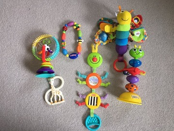 Selling: Baby toys bundle incl lamaze, nuby and sophie teething giraffe