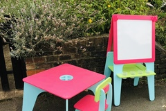 Selling: ELC table / double easel set /chair